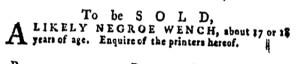 May 5 - Pennsylvania Gazette Supplement Slavery 7