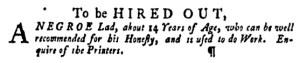 May 5 - Pennsylvania Gazette Supplement Slavery 8