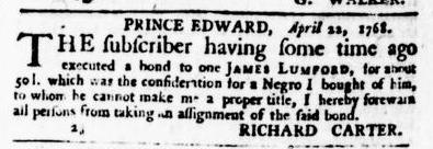 May 5 - Virginia Gazette Puride and Dixon Slavery 2