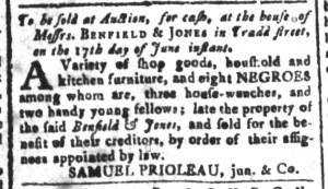 Jun 3 - South-Carolina and American General Gazette Slavery 13