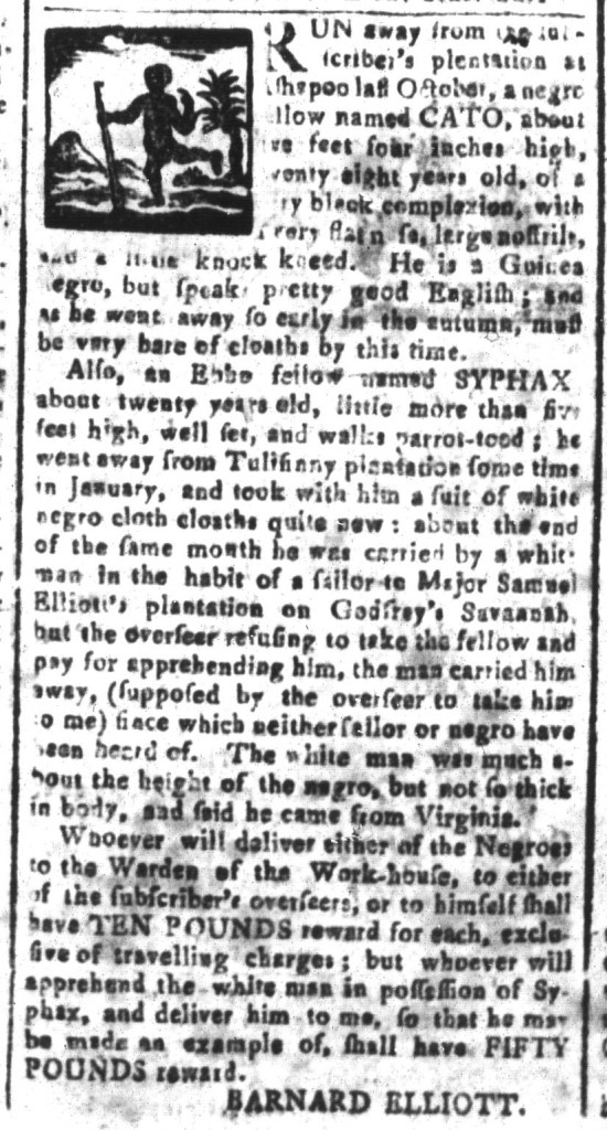 Jun 3 - South-Carolina and American General Gazette Slavery 7