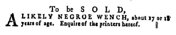 May 12 - Pennsylvania Gazette Supplement Slavery 4