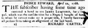 May 12 - Virginia Gazette Purdie and Dixon Slavery 3