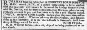 May 18 - Georgia Gazette Slavery 1