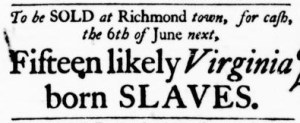 May 19 - Virginia Gazette Purdie and Dixon Slavery 3