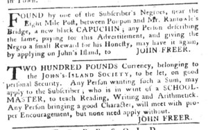 May 24 - South-Carolina Gazette and Country Journal Supplement Slavery 3