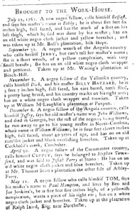 May 24 - South-Carolina Gazette and Country Journal Supplement Slavery 4