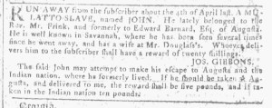 May 25 - Georgia Gazette Slavery 2