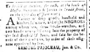 May 27 - South-Carolina and American General Gazette Slavery 2