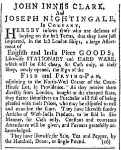 May 28 - 5:28:1768 Providence Gazette