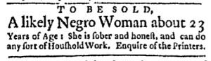 May 30 - Boston Evening-Post Slavery 1