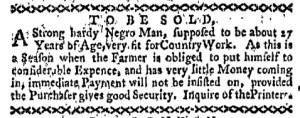 May 30 - Boston-Gazette Slavery 2