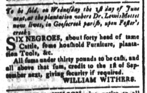 May 6 - South-Carolina and American General Gazette Slavery 4