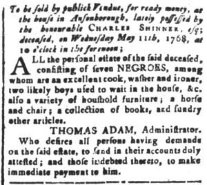 May 6 - South-Carolina and American General Gazette Slavery 8
