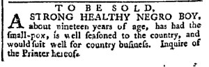 May 9 - Pennsylvania Chronicle Slavery 1