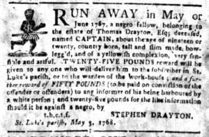May 9 - South-Carolina Gazette Slavery 1