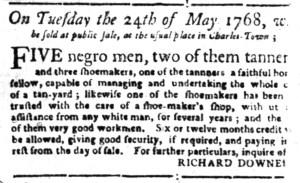 May 9 - South-Carolina Gazette Supplement Slavery 6