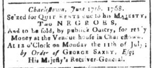 Jul 1 - South Carolina and American General Gazette Slavery 14