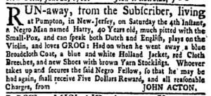 Jul 11 - New-York Gazette Weekly Mercury Supplement Slavery 2