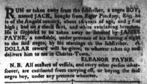Jul 12 - South-Carolina Gazette and Country Journal Slavery 5
