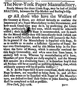 Jul 14 - 7:14:1768 New-York Journal