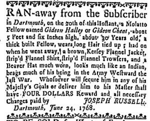 Jul 14 - Massachusetts Gazette Draper Slavery 1
