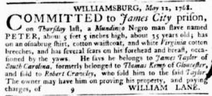Jul 14 - Virginia Gazette Purdie and Dixon Slavery 6