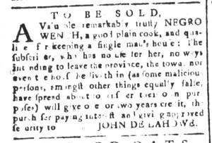 Jul 15 - South Carolina and American General Gazette Slavery 1