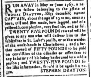 Jul 15 - South Carolina and American General Gazette Slavery 10
