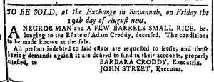 Jul 6 - Georgia Gazette Slavery 2
