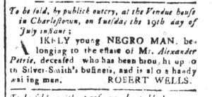 Jul 8 - South Carolina and American General Gazette Slavery 11