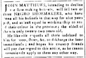 Jul 8 - South Carolina and American General Gazette Slavery 12