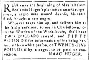 Jul 8 - South Carolina and American General Gazette Slavery 13