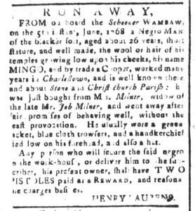 Jun 10 - South-Carolina and American General Gazette Slavery 1