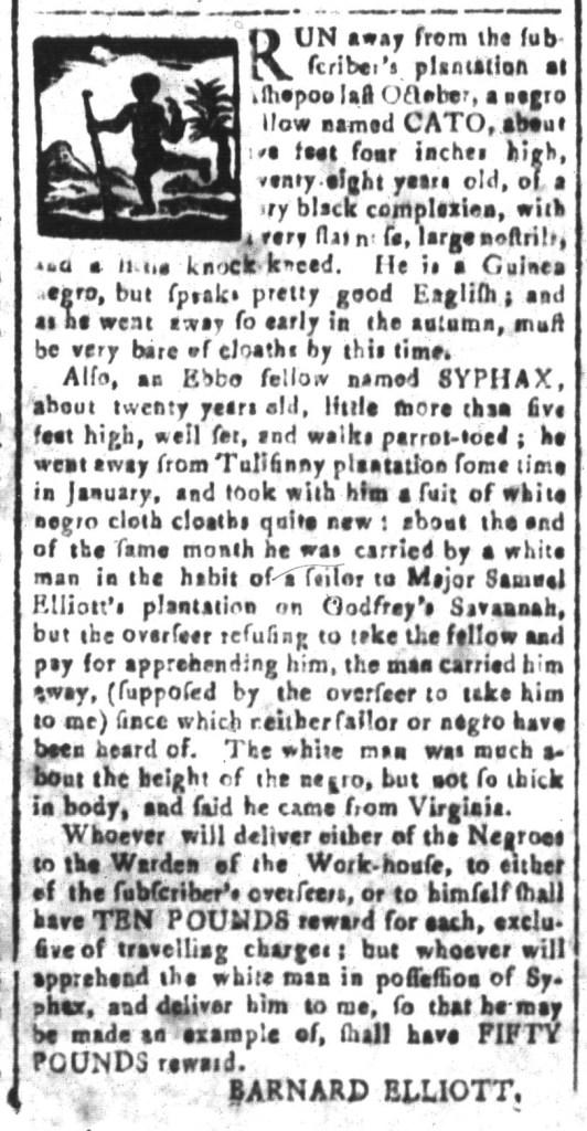 Jun 10 - South-Carolina and American General Gazette Slavery 5