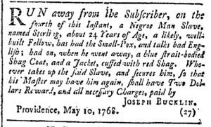 Jun 11 - Providence Gazette Slavery 1