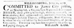 Jun 16 - Virginia Gazette Purdie and Dixon Slavery 6