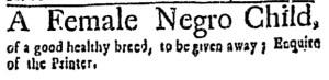 Jun 23 - Boston Weekly News-Letter Slavery 1