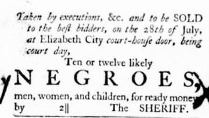 Jun 23 - Virginia Gazette Purdie and Dixon Slavery 2