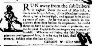 Jun 23 - Virginia Gazette Purdie and Dixon Slavery 3