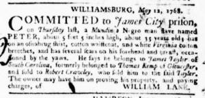Jun 23 - Virginia Gazette Purdie and Dixon Slavery 8