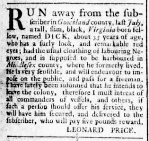 Jun 23 - Virginia Gazette Rind Slavery 3