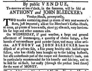 Jun 27 - New-York Gazette Weekly Mercury Slavery 1