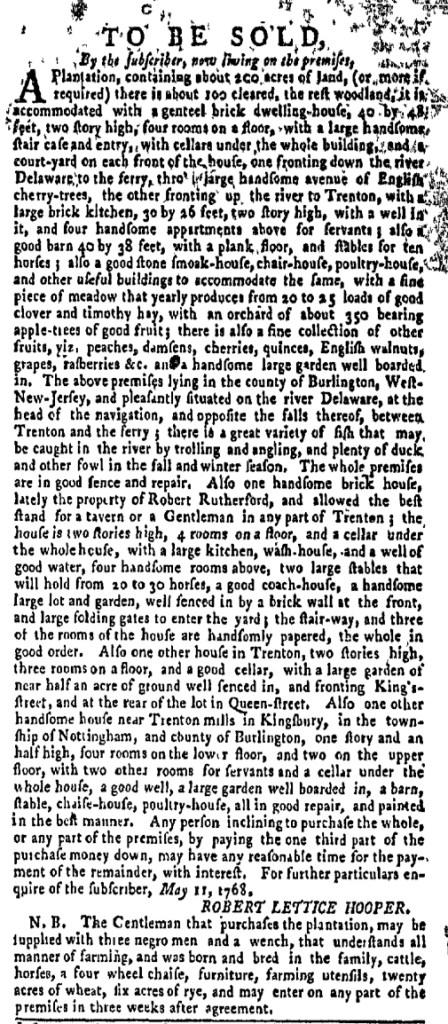 Jun 27 - New-York Gazette Weekly Mercury Slavery 4
