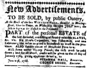 Jun 27 - South Carolina Gazette Slavery 1