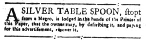 Jun 27 - South Carolina Gazette Slavery 14