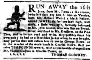 Jun 27 - South Carolina Gazette Slavery 2