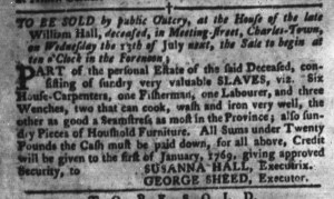 Jun 28 - South-Carolina Gazette and Country Journal Slavery 9