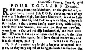 Jun 30 - Pennsylvania Gazette Supplement Slavery 4