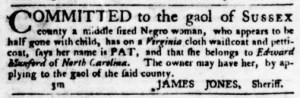 Jun 30 - Virginia Gazette Purdie and Dixon Slavery 10